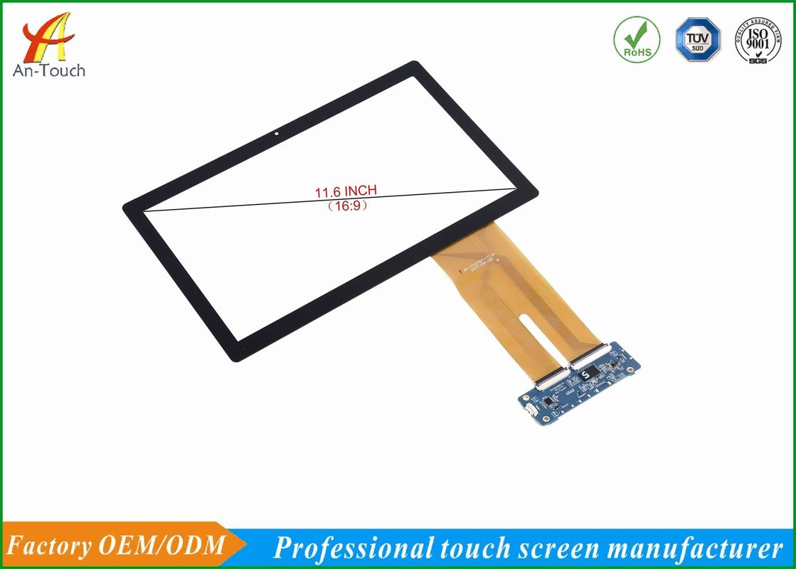 Fashion Multi Finger POS Touch Panel , 11.6 Inch Touch Screen Fog - Proof