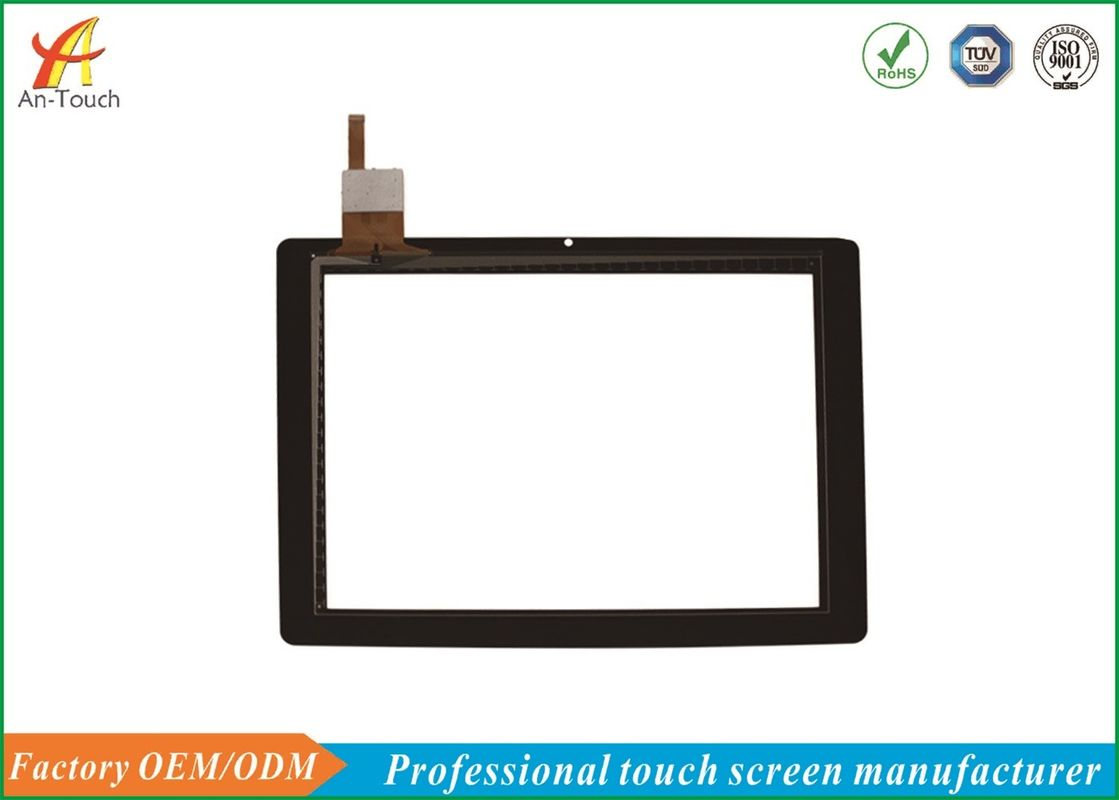 Black Smart Home Touch Panel 9.7 Inch Flat Panel For Intelligent Appliances